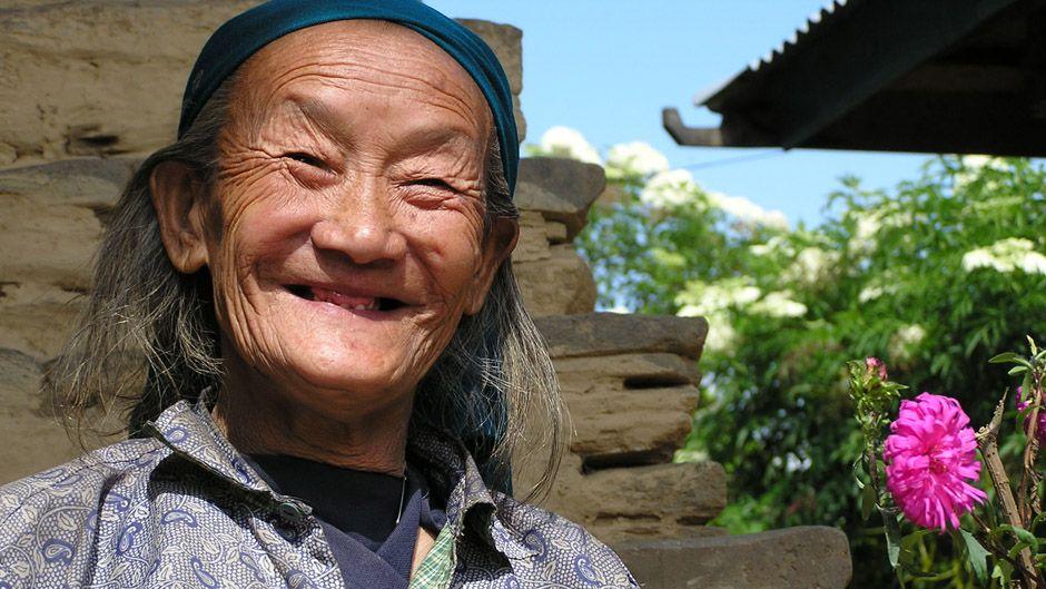 Vana naine Sikkimis. Foto: sevendiary.com